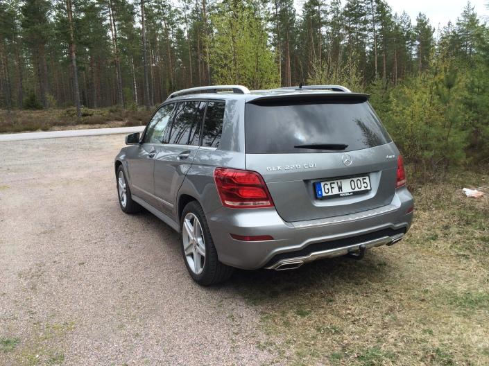 Rear Left Distance - Mercedes-Benz GLK 220 CDI