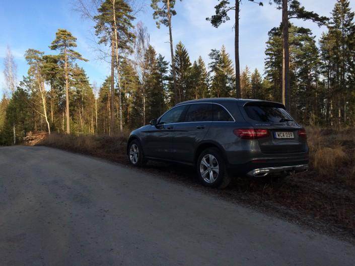 Mercedes GLC snett bakifrån