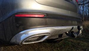 Fejkade avgasutblås på Mercedes GLC