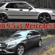 Saab 9-5 2,3t -04 vs. Mercedes GLC 220d -16