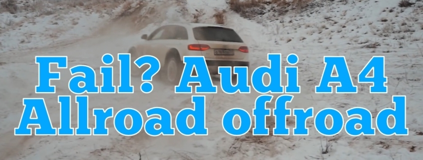Offroad med Audi A4 Allroad